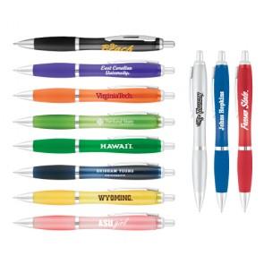 #1490 Curvy Translucent Ballpoint Pen