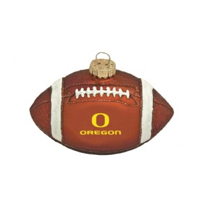 #2372 Glass Football Ornament