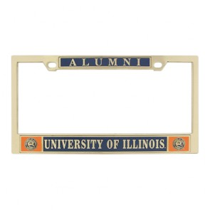 #606 Classic Brass License Frame
