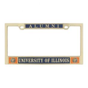 #606 Classic Brass License Frame
