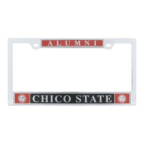 #607 Polished Chrome License Frame